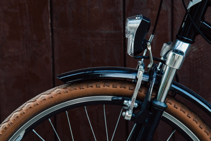 Wood light bike tire small
