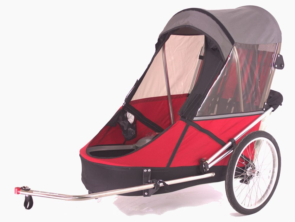 34front bike trailer red
