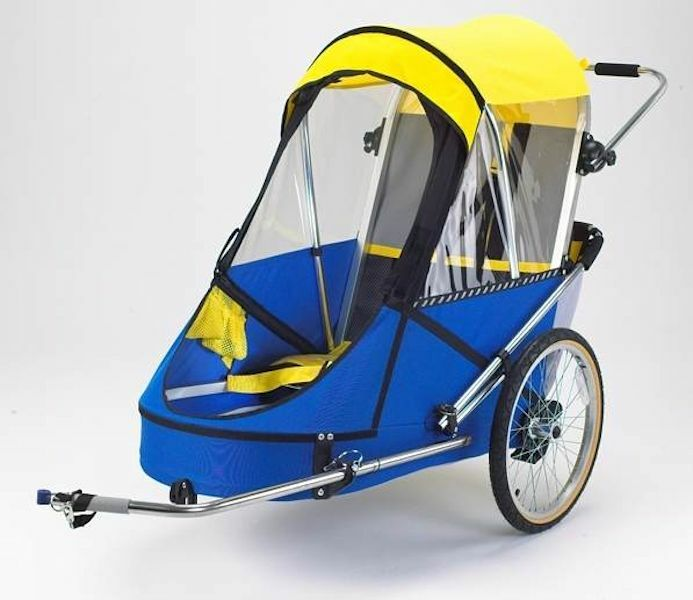 Large Special Needs Bicycle Trailer Blue Yellow