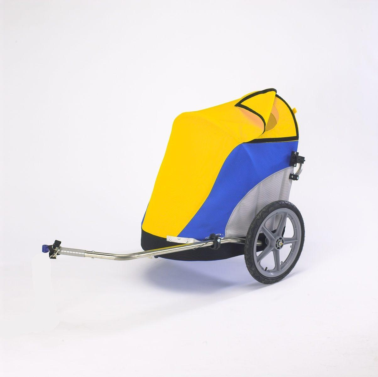 Wike-City-Cargo-Shopper-Bicycle-Trailer-Yellow