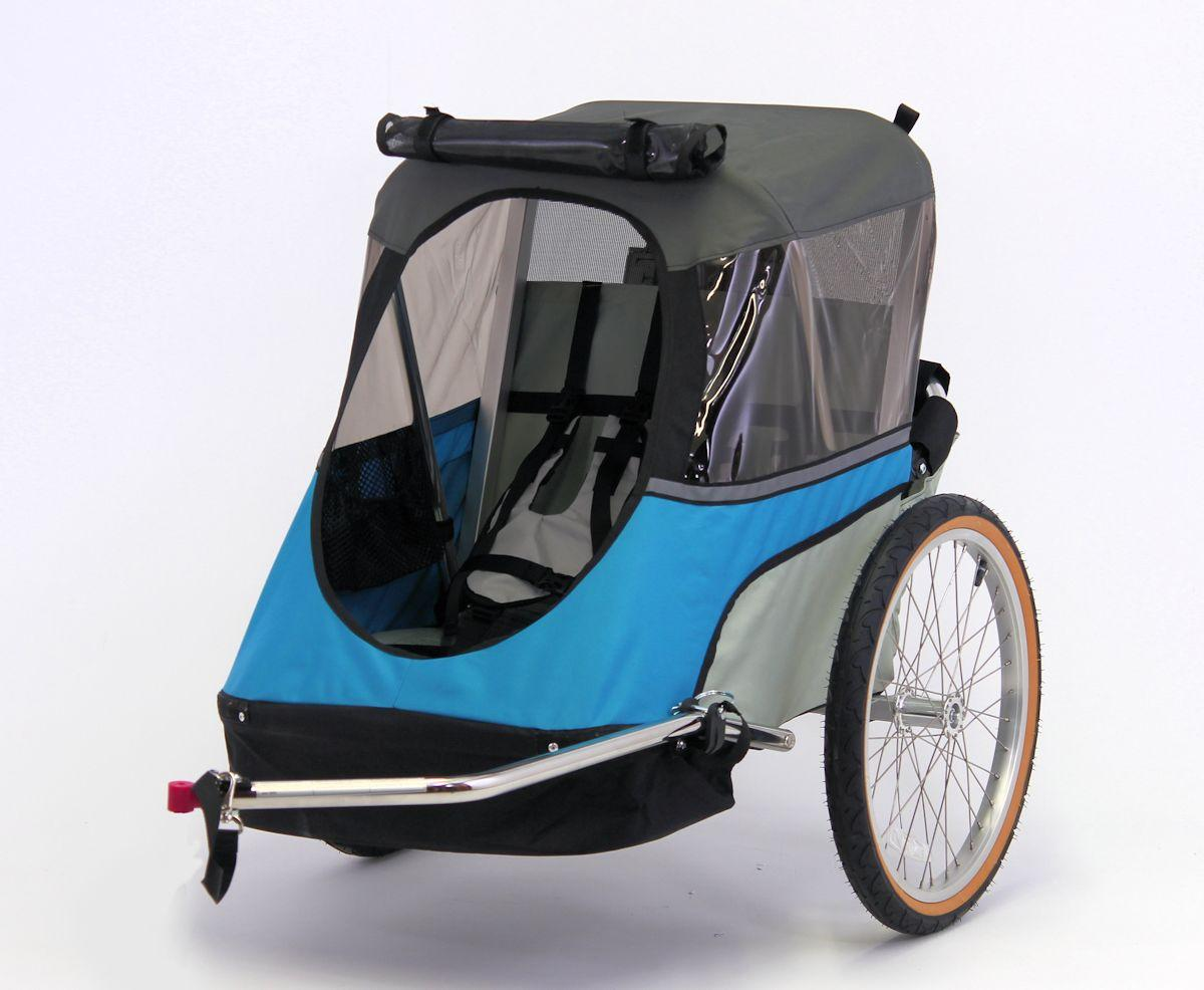 Wike-Junior-Bicycle-Trailer-blue-gray-open