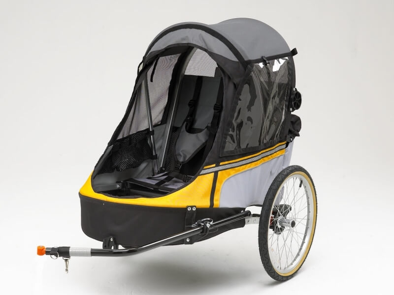 Wike-Softie-Suspension-Bicycle-Trailer-Yellow