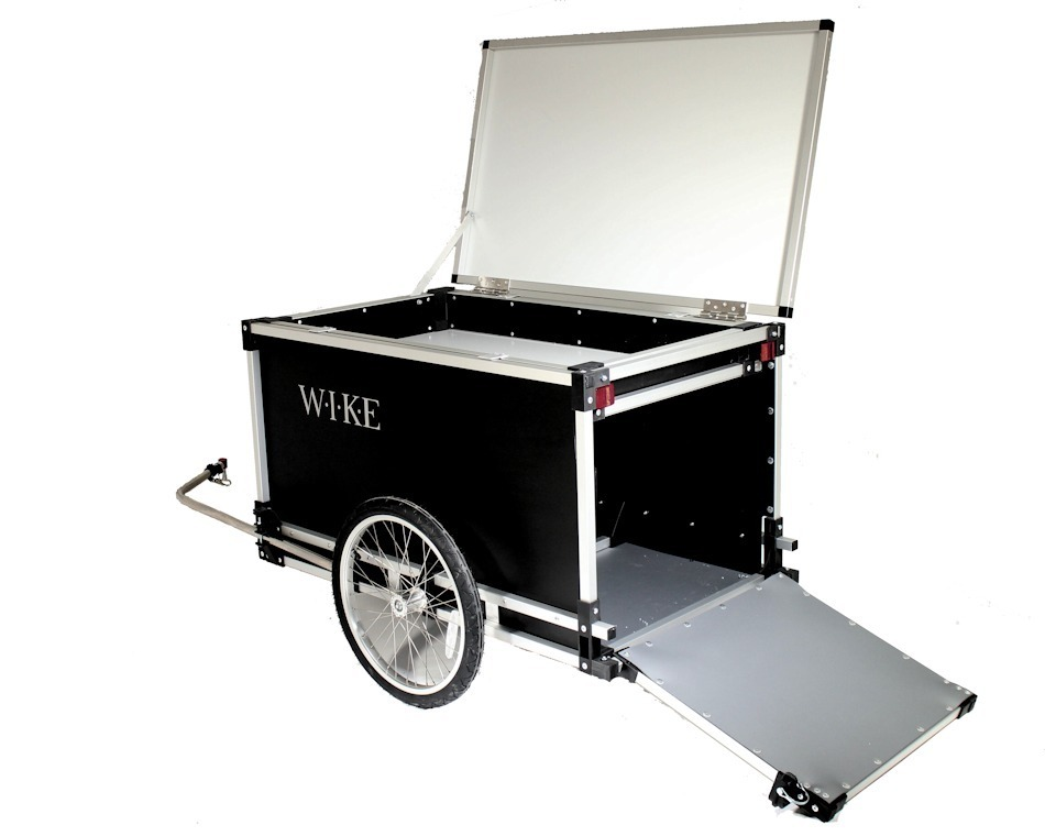 Rear Top And Back Open Bike Trailer